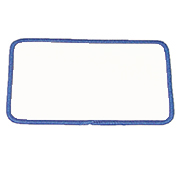 Standard Color Blank Patches - 1 Inch by 2 Inch Rectangle