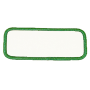 Standard Color Blank Patches - 2 inch by 5 1/4 inch Rectangle THUMBNAIL