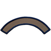 Custom Color Blank Patches - 3/4 Inch by 2 7/8 Inch Rocker