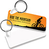"Sublimation FRP Keychain 1.25"" x 3"" Rectangle (2-Sided)"