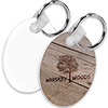 2-Sided FRP Round Keyring - Sublimation Blank