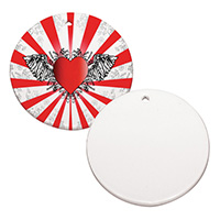 "3"" Round Ceramic Ornament - Sublimation Blank MAIN"