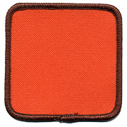 "Square 2.5"" Custom Color Blank Patch"
