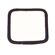 Standard Color Blank Patches - 2.5 Inch Square
