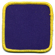 Custom Color Blank Patches - 2 inch Square THUMBNAIL