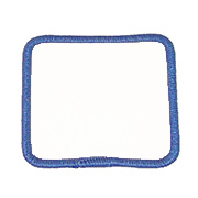 Standard Color Blank Patches - 2 Inch Square