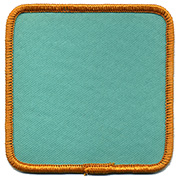 "Square 3.5"" Custom Color Blank Patch"