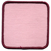 "Square 3"" Custom Color Blank Patch"
