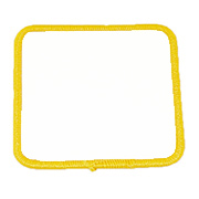 Standard Color Blank Patches - 3 Inch Square