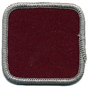 "Square 4"" Custom Color Blank Patch"