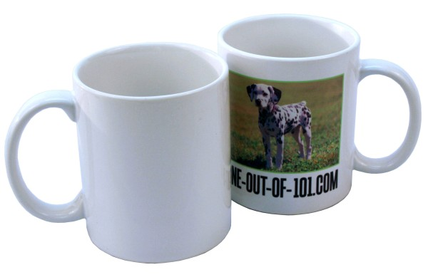 11 oz White Ceramic Mug - Sublimation Blank THUMBNAIL