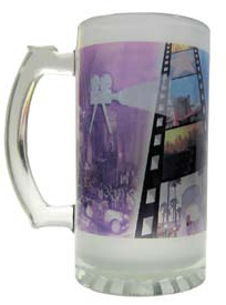 16oz Frosted Glass Beer Mug