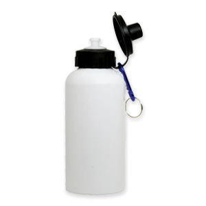 600ml White Aluminum Water Bottle THUMBNAIL
