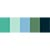 Blue/Green Palette - Polyester Embroidery Thread 5500 Yard Cones SWATCH