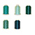 Blue/Green Palette - Polyester Embroidery Thread 5500 Yard Cones Mini-Thumbnail