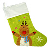Cubbies Lime Reindeer Stocking