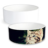 "Small 2.5"" x 6"" Ceramic Pet Bowl - Sublimation Blank"