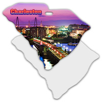 Sublimation Metal South Carolina State Ornament