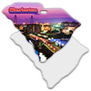 Sublimation Metal South Carolina State Ornament THUMBNAIL
