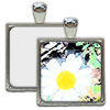 Nickel Plated Square Pendant with Sublimation Metal Insert