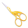 "3.5"" Gold Stork Embroidery Scissors by Famore THUMBNAIL"