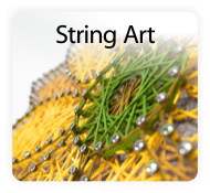 Pretty Twisted String Art DIY Craft Kits