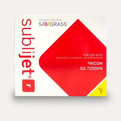 Sublijet Sublimation Ink Yellow Extended Cartridge Fits Ricoh SG7100DN MAIN