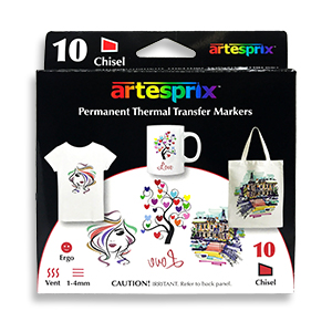Artesprix Permanent Thermal Sublimation Transfer Markers - 10 pack MAIN