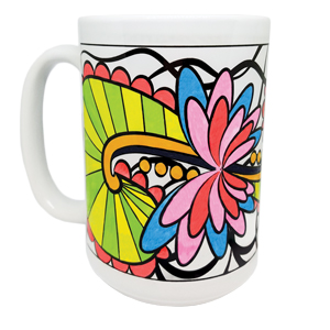 Pretty Twisted Swirl and Twirl Color Your Mug DIY Craft Kit