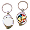 Metal Swirl Keychain with Sublimation Insert