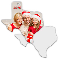 Sublimation Metal Texas State Ornament_MAIN