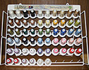 Top 44 Iris Ultra Cotton Quilting Thread - Rack & 60 Mini King Cones