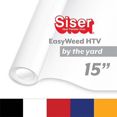 "Siser EasyWeed Heat Transfer Vinyl (HTV) - By The Yard 15"" MAIN"