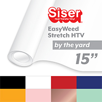 "Siser EasyWeed Stretch Heat Transfer Vinyl (HTV) - By the Yard 15"" THUMBNAIL"
