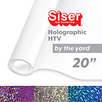 "Siser Holographic Heat Transfer Vinyl (HTV) - By the Yard 20"" THUMBNAIL"