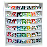 Top 42 Iris Ultra Cotton - White Display & 210 snap spools