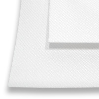 "White 12"" x 17"" Blank Patch Fabric Sheets - Sublimation Blanks"