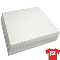 Flame Resistant Backing / Stabilizer - White - 500 Ct 7.5 Inch x 7.5 Inch