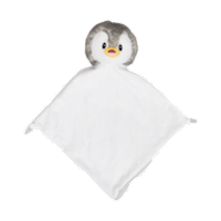 Cubbies Gray Bingle Penguin Snuggle Buddy Embroiderable Blankie THUMBNAIL