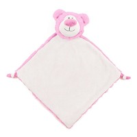 Cubbies Pink Cubbyford Bear Snuggle Buddy Embroiderable Blankie THUMBNAIL