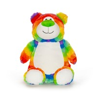 Cubbies Rainbow Multi-Color Cubbyford Bear Embroiderable Stuffed Animal THUMBNAIL