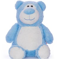 Cubbies Blue Cubbyford Bear Embroidable Stuffed Animal THUMBNAIL