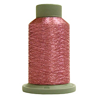 Carnation 730 Yd Glisten Metallic Embroidery and Quilting Thread by Filtec Bobbin Central # 60325