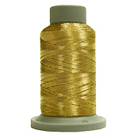 Tudor Gold 730 Yd Glisten Metallic Embroidery and Quilting Thread by Filtec Bobbin Central # 60087