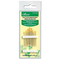 Gold Eye Embroidery Needles by Clover
