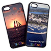 Black Rubber Sublimation iPhone 5 Case with Insert