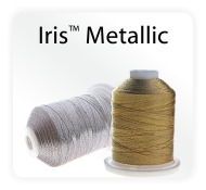 Iris Metallic Machine Embroidery and Quilting Thread High Quality Nylon Core