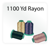 Iris Rayon Machine Embroidery Thread - 1100 Yard Cones