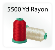 Rayon Embroidery Thread 5500 Yd Cones