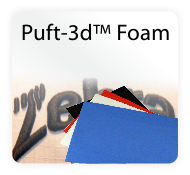 Puft-3d Embroidery Puffy Foam